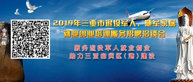 2019年三亚市退役军人、随军家属就业创业培训服务招聘洽谈会