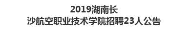 2019湖南长沙航空职业技术学院招聘23人公告