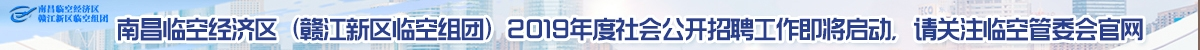南昌临空经济区(赣江新区临空组团)2019年面向社会公开招聘工作人员公告