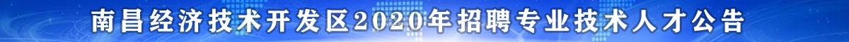 南昌经济技术开发区面向社会公开招聘专业技术人才共14名