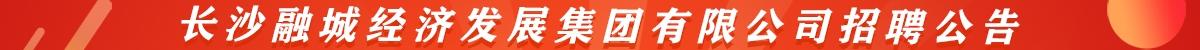 长沙融城经济发展集团有限公司招聘公告