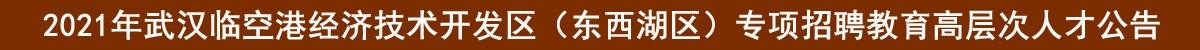 2021年武汉临空港经济技术开发区(东西湖区)专项招聘教育高层次人才公告